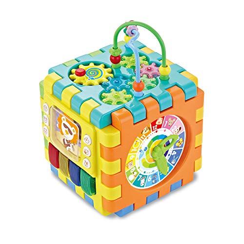 Nlatas Activity Center für Kinder, Baby-Cube, Perlenschnur Labyrinth Achterbahn Vorschul Early Learning Box Kinder Lernspielzeug