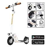 Airwheel Z5pieghevoli e scooter elettrico Monopattino Scooter Elettrico Monopattino ultraleggero a lungo raggio e extra forte motore da 350W (BIANCO)