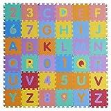 W-top 36 PCS Alfabeto Números Suave Alfombrilla de juego para niños,...