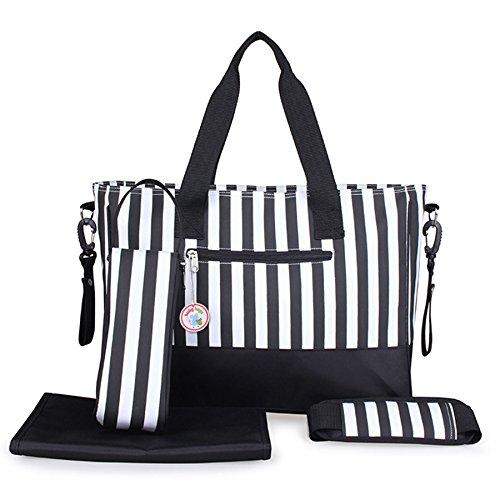 Babyhugs 5x Wickeltasche, Set–schwarz & weiß Streifen (Tote Weiß-streifen)