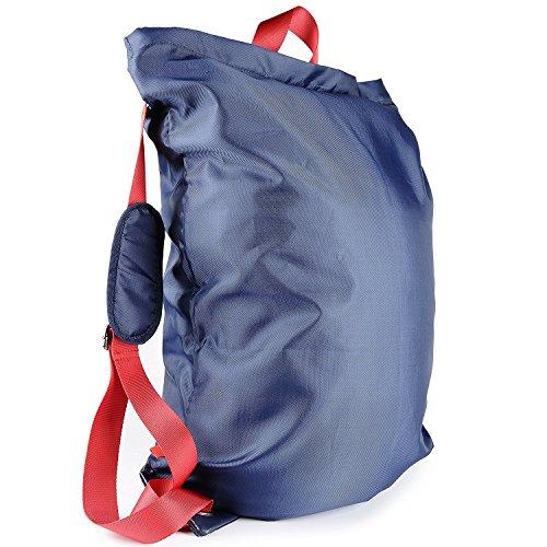 Wäschekorb Rucksack, VDS Laundry Bag Wäschesack mit verstellbare Schultergurte und langlebigem Nylon Wäschebeutel 50,8 x 71,1 cm für College Studenten, blau, L (Verstellbarer Features Schultergurt)