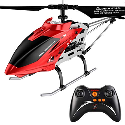 Syma Remote Control Helicopter with Altitude Hold Built-in Gyro LED Light Outdoor 2.4Ghz RC Plane Toys 3.5 Channels Large RC Flying Drone Extra 1 Battery Included Gift for Kids Adults