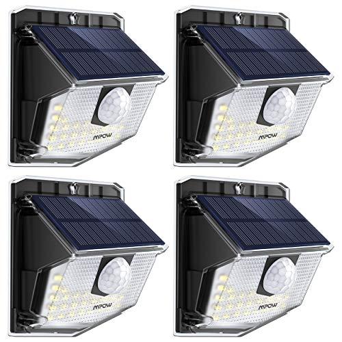 Mpow Lámpara Solar, 30 LED Luz Solar de Exterior, 270° Ángulo de...