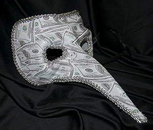 The Rubber Plantation TM 619219290302 - Vestido unisex para hombre, diseño de nariz veneciana, talla única, color blanco y negro