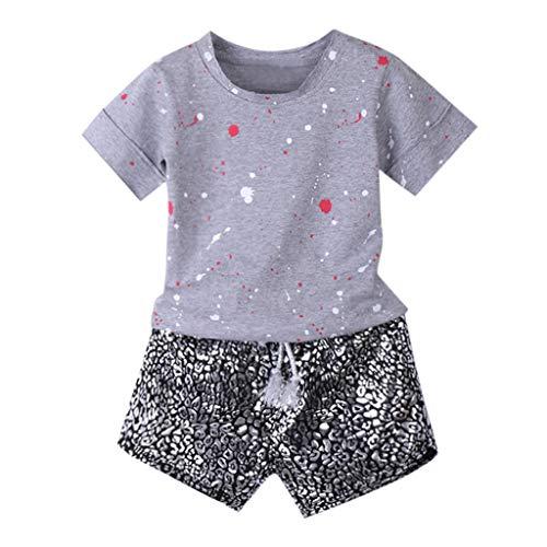Mädchen Sommer Streifen Kurzarm Baumwolle T-Shirt Kleid 1-8 Jahre Weise Nette Baby des neuen Kleinkind -Kleidung Denim Top Sun Flower Princess Tutu-Kleid (Sun-kleid Hunde Für)