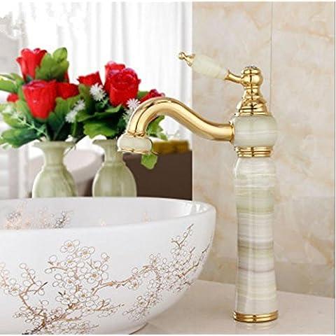 Rubinetti di Alladin giada, oro-placcato-sopra contatore lavabo