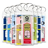 Cruise Tag Caddy Cruise Luggage Tags 8 Pc Zip Top Holders 8 Metal Ties for Royal Caribbean & Celebrity Cruise Shi