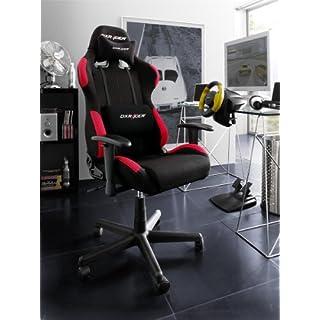 DXRacer - Original DX Racer Bürostuhl F-Serie Oh fd01 nr schwarz - rot mit zusätzlichem gratis-Set Hartbodenrollen