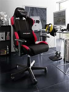 Original dX racer fauteuil de bureau f-serie oh fd01 nr noir-rouge, 62501SR4H supplémentaire gratuite-set de roulettes pour sols durs