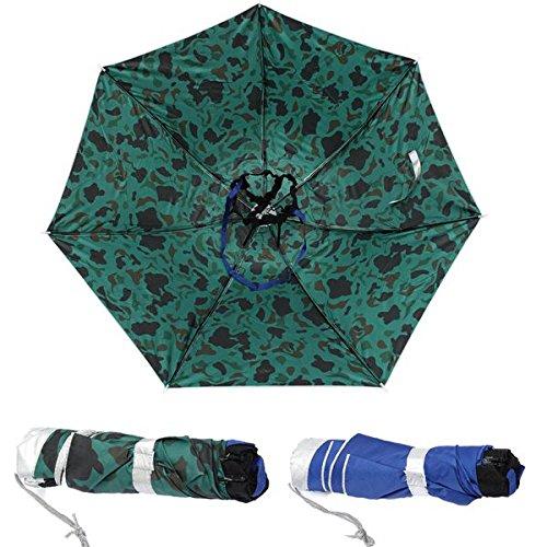 Faltbare Angeln Regenschirm Wandern Golf Camping Sun Kopfbedeckung Cap Kopf Hüte Außen