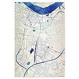 artboxONE Poster 45x30 cm Städte Aalborg Da?nemark Blue
