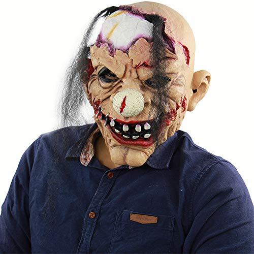 BEIAKE Terror Creepy Scary Halloween Cosplay Kostüm Maske für Erwachsene Party Dekoration Requisiten (Damen Uk Halloween Kostüme Scary)