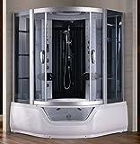Cabina Idromassaggio due persone full optional con Vasca idromassaggio grigia o bianca box da 150x150