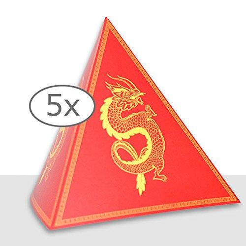Chinesische Drachen (Tischdeko Pyramide