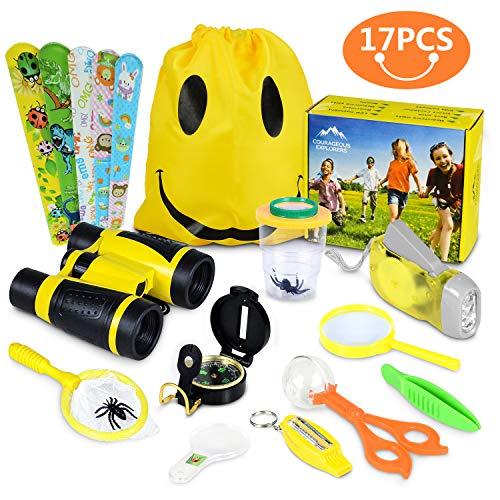 Bigear Adventure Outdoor Explorer Kit, Kinder Spaß Spielzeug Lernspielzeug für Geburtstagsgeschenk, Kinder Fernglas Set für Camping Wandern Rollenspiel (Für Vogelbeobachtung Hinterhof Kinder)