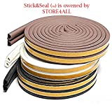 #5: Stick&Seal D Shaped (Brown) Self-Adhesive Epdm Doors And Windows Foam Seal Strip Rubber Weatherstrip 6 Meter (2 X 3 M = 6 Meter)