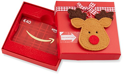 Amazon.de Geschenkkarte in Geschenkbox - 40 EUR (Rentier)