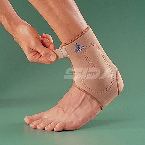sda-silicone-padded-neoprene-ankle-support-with-adjustable-compression-strap-by-oppo-ligament-joint-