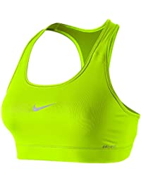 Nike Damen Sport-BH Victory Compression, 375833-708, grünVolt/Dusty Grey, XS
