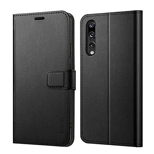 Huawei P20 Pro Coque de Protection, EasyAcc Etuis Portefeuille pour Huawei P20 Pro Simili Cuir Flip Cover Fermeture magnétique Anti-choc avec Fonction Stand (Noir)