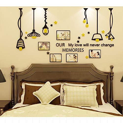 GWXLDWALL Wall Sticker per Camera da Letto Home Office Vita Sofa TV Sfondo Decorativo Wall Stickers Casa S
