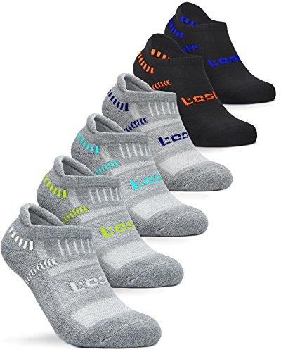 Tesla Men's 6-Pairs Atheltic No Show Socks Cushioned Comfort w Mesh MZS04 / MZS05 / MZS06