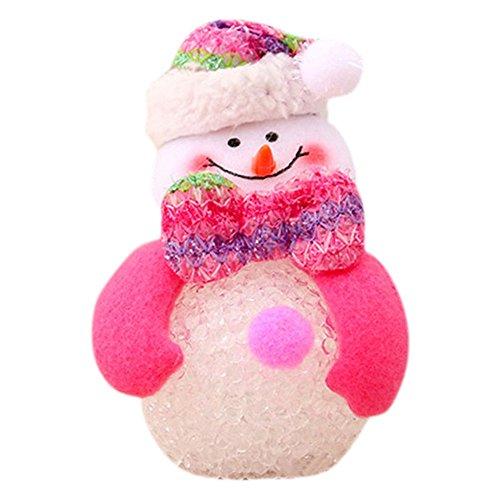 Dicomi LED Schneemann Nachtlichter Weihnachtslichter EVA für Familie, Geschenke, Party, Weihnachten, Bar, Cafe, Wohnkultur (10 * 9cm) Mehrfarbig-B