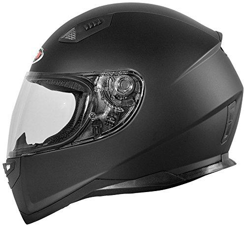 Shiro casco, sólido, color negro mate, tamaño XL