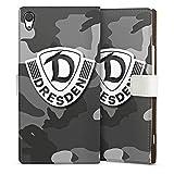 Sony Xperia XA 1 Ultra Tasche Leder Flip Case Hülle Sg Dynamo Dresden Logo Fanartikel