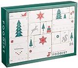 Foodist Gourmet Adventskalender mit 24 außergewöhnlichen Süßigkeiten, Snacks und Delikatessen, Weihnachtskalender