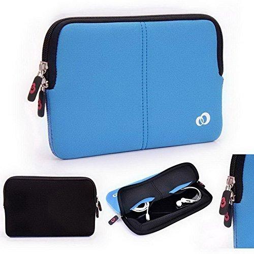 Tastatur Mit Case Lg Optimus (Kroo Neopren Hülle Sleeve Case mit Dual versteckte Tasche für LG Optimus Pad LTE blau blau)