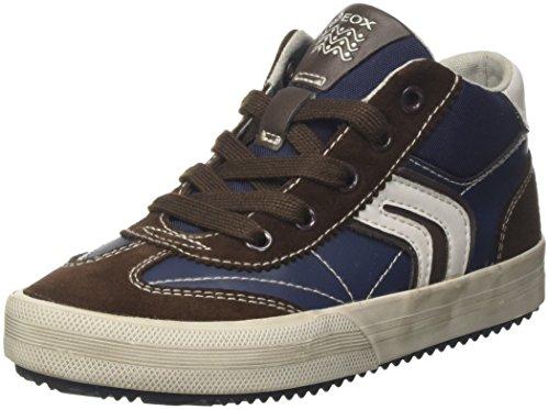Geox Jungen J Alonisso Boy C Hohe Sneaker, Blau (Navy/Brown), 35 EU