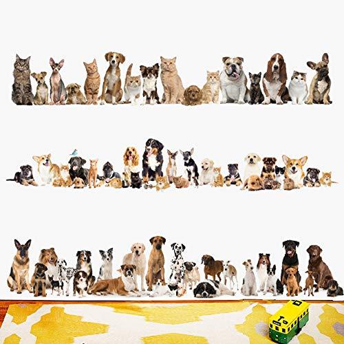Neueste Katzen Baseboard Wandaufkleber Hund Wand PVC Wandtattoos Kunst Tapete Tiere Party Dekoration DIY Abnehmbare