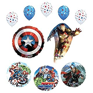 Mayflower Products Avengers birthday Party Supplies and Balloon Bouquet Decorations