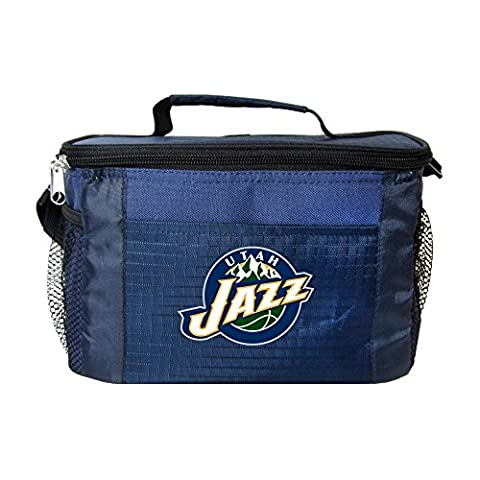 NBA Utah Jazz Insulated Lunch Cooler Bag with Zipper Closure, Navy