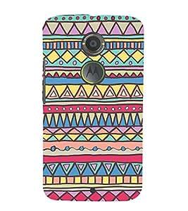 Fuson Designer Back Case Cover for Motorola Moto X2 :: Motorola Moto X (2nd Gen) ( Ethnic Pattern Patterns Floral Decorative Abstact Love Lovely Beauty )