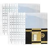 COM-FOUR® 20x housses transparentes pour agrafeuse A4, à l'épreuve des documents, d'une grande transparence (20 pièces - limpide)