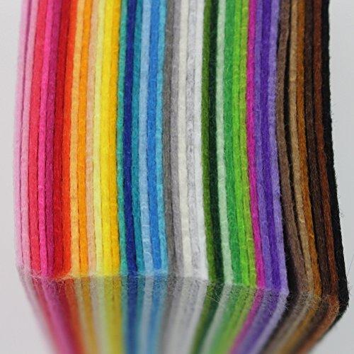 ULTNICE Bastelfilz Kinder DIY Filzstoff Bunt 40 Farben 15 x 15 cm
