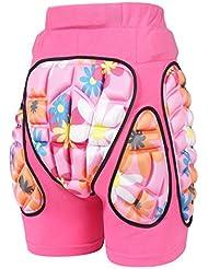 MCTi Adulto Niños Niña 3D Hip EVA Paded Corto Pantalones Protección Gear Pad para Esquí Patinaje Snowboard Hockey