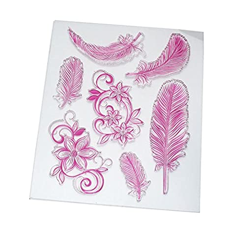 Loisirs Creatifs Scrapbooking - Fomccu Coque en silicone motif plumes Tampon
