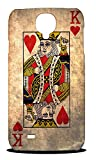Foxercases Design King Of Hearts Playing Deck Cards Hard Back Case Cover for Samsung Galaxy S4