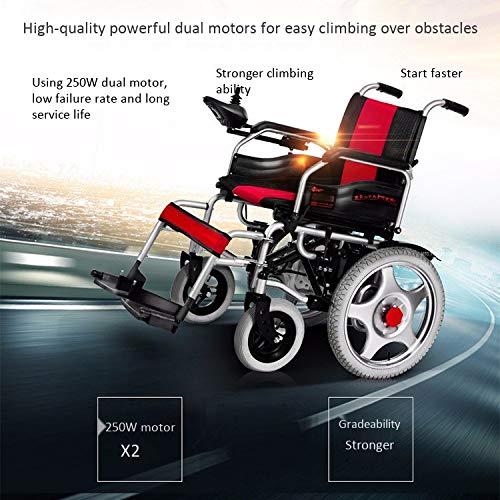 51qRK1ch59L - WJUAN Silla De Ruedas Eléctrica Ancianos Discapacitados Scooter Inteligente Completamente Automático Ligero Plegable Vehículo Eléctrico De Cuatro Ruedas