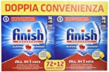 Finish Pastiglie Lavastoviglie All in 1 Max, Limone, 84 Tabs