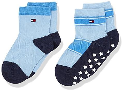 Tommy Hilfiger Baby-Jungen TH Stars Abs Sock 2P, 2er Pack, Blau (Baby 397), 19-22 (Manufacturer Size:19)