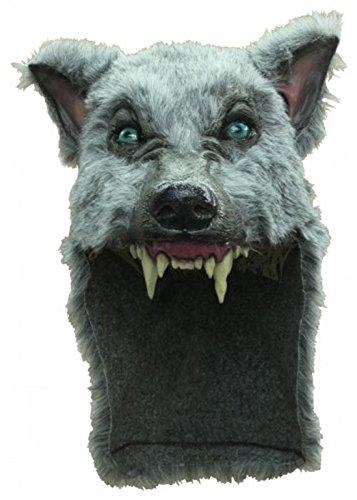 Deluxe grau Werwolf Maske Kopfstück (Werwolf Deluxe Maske)