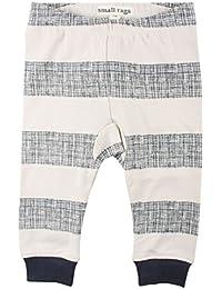 Small Rags bébé unisexe, pantalon taille élastique 100% coton, rayures écru/bleu marine, 60084 03-58