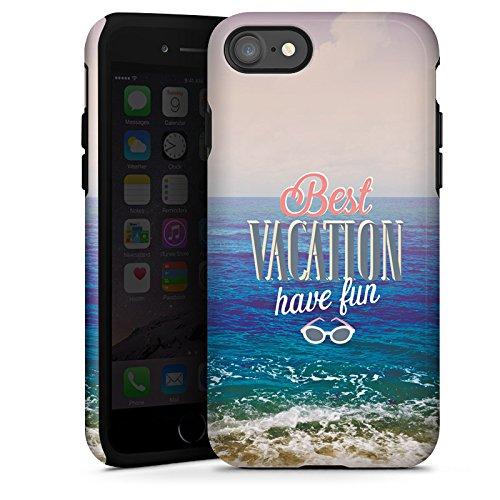 Apple iPhone X Silikon Hülle Case Schutzhülle Urlaub Meer Strand Tough Case glänzend