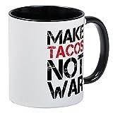 CafePress–Make Tacos nicht war–Einzigartige Kaffee Tasse, Kaffeetasse, Tee, Tasse, White/Black Inside, S