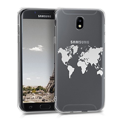 kwmobile Samsung Galaxy J5 (2017) DUOS Hülle - Handyhülle für Samsung Galaxy J5 (2017) DUOS - Handy Case in Silber Transparent
