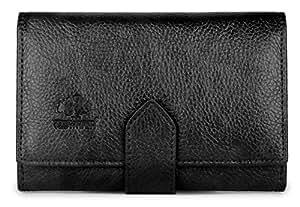 The Clownfish Duchess Series Women's Wallet | Ladies Purse | Women Clutches | Wallet Credit Card And Money Holder (Black)